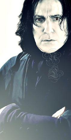 Rickman as the daunting hero Severus Snape