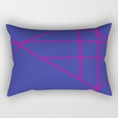 Blue and Pink Rectangular Pillow by mosaicpen Lumbar Pillow, Bed Pillows, Pillow Cases, Poplin Fabric, Accent Decor, Pink Blue, It Is Finished, Zipper, Contemporary