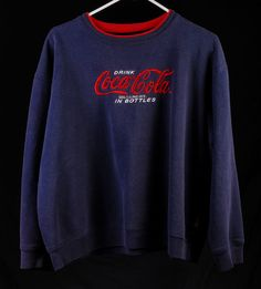 #Authentic Coca Cola Pull Over Navy Blue Sweat Shirt #sweater XL #CocaColaBrand