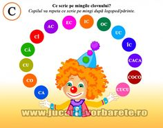 sunetul C Oral Motor Activities, Activities For Kids, Letters, Education, Children, Montessori, Emo, Literatura, Kids