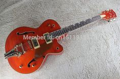 Free shipping Wholesale guitar custom shop gretsch Falcon Classic 6120 Jazz hollow BY Bigbys orange Electric Guitar in stock #Affiliate