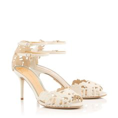 Margherita adds an embellished touch to your bridal attire with its sophisticated floral cut-out design. Finished with a double ankle strap feature, this ultra chic sandal in ivory suede is a feminine choice for a Spring/Summer wedding. Designer Sandals, Cut Out Design, Signature Design, Charlotte Olympia, Shoe Sale, Bridal Collection, Designing Women, Clutch Bag, Summer Wedding