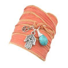Celebrity Silk Wrap Bracelet
