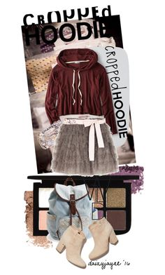 """""""cute cropped hoodie"""" by daizyjayne ❤ liked on Polyvore featuring Aéropostale, American Eagle Outfitters, Chanel, RED Valentino, Laurence Dacade, contestentry and CroppedHoodie"""