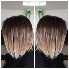 We often see ombre on girls with long, beachy waves, but this style proves that the look is just as eye-catching in an angular chop. This sleek bob was given an expert balayage treatment, fading from chestnut to platinum in the most natural way possible. Image: @maidenstkilda: