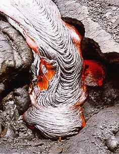 hot lava from Kilahea on Hawaii