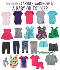 It is possible to create a baby capsule wardrobe with some minor modifications. Babies need a few more clothes but the items are easier to coordinate!