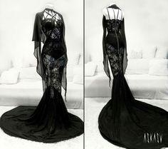 Dark Elf Dress by Askasu  Italian lace and chiffon.