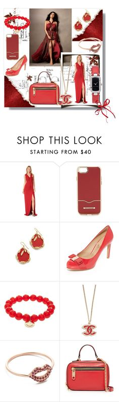 """""""Shimmer In Red!!"""" by stylediva20 ❤ liked on Polyvore featuring Thierry Mugler, Rebecca Minkoff, Aurélie Bidermann, Salvatore Ferragamo, Sydney Evan, Milly and Marc Jacobs"""