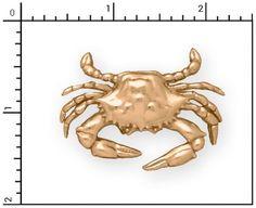 14Kt Large Crab