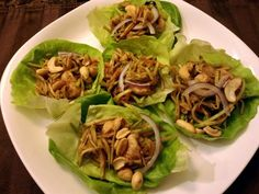 """Mu Shu Chicken Lettuce Wraps! """"A favorite of ours from restaurants, my version is quick, and tasty!""""  @allthecooks #recipe #chicken #chinese #appetizer #asian #healthy"""