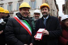 Il ministro Dario Franceschini in visita a Camerino