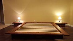 Floating Platform Bed Wide Ledge Bed Loft Bed Low Profile