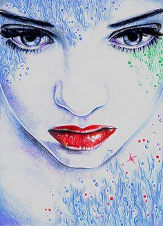 Joanna Wędrychowska | illustration Aqua - coloured pencil on paper