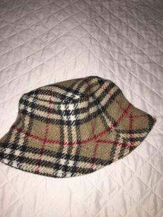 Burberry London Womens 100% Wool Nova House Check Plaid Bucket Crusher Warm  Hat  fashion 5103328d12e5