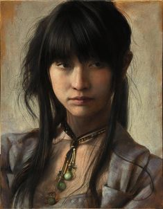 Delicately glazed oil painting by Osamu Obi