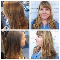 Before and After by Jessica. A little balayage can make a BIG difference! www.thecherryblossomsalon.com  404-856-0533