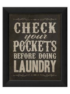 Check Your Pockets by The Artwork Factory at Gilt