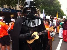 "Darth Vader with his Ukulele. ""Feel the power of the dark side . . ."""
