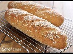 Carol 自在生活 : Oatmeal Honey Bread。燕麥蜂蜜麵包(水合折疊法) - 實作影片
