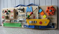 Personalized Busy Board Small Boat, Toy for Toddler , Sensory Children Game, Activity Toy, Montess Busy Boards For Toddlers, Board For Kids, Games For Kids, Montessori, Activity Board, Activity Toys, Toddler Toys, Toddler Activities, Orange Wheels