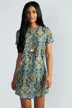online shopping for Kelly Paisley Print Short Sleeve Shift Dress from top store. See new offer for Kelly Paisley Print Short Sleeve Shift Dress Day Dresses, Cute Dresses, Dress Outfits, Casual Dresses, Fashion Dresses, Summer Dresses, Shift Dresses, Occasion Dresses, Prom Dresses