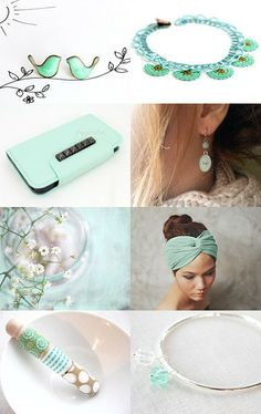Pastel Mint by Marukasa on Etsy