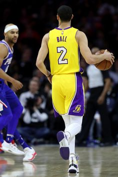 bf27418d5342 Lonzo Ball Photos - Lonzo Ball  2 of the Los Angeles Lakers dribbles the  ball