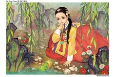 The Frog Prince [Western Fairytales Get A Korean Makeover In Gorgeous Illustrations]
