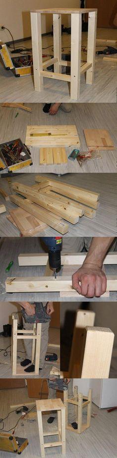 Барные стулья из бруса. Материалы - 8 длинных деревянных брусков одинакового размера(для ножек), 8 коротких брусков (для создания равновесия), 2 деревянные платы(сиденья), шурупы и новые сверла(не обязательно, были нужны нам)) Соединяем 4 пары ножек маленькими брусками, сразу все, чтобы не спутать высоту. Между собой соединяем их также маленькими брусками, но немного повыше - так будет смотреться более стильно! Затем прикручиваем сиденье. Ножки шлифуем - сглаживаем углы. Сглаженные углы у…