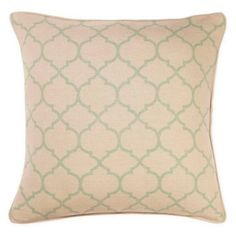 Check out this item at One Kings Lane! Trellis 20x20 Pillow, Seafoam Green