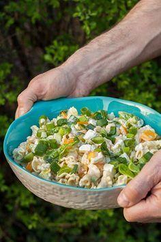 leichter Nudelsalat zum Grillen light pasta salad for grilling – salad the Pasta Salad Recipes, Noodle Recipes, Light Pasta Salads, Grilled Vegetables, Grilling Recipes, Beef Recipes, Tzatziki, Food And Drink, Lunch