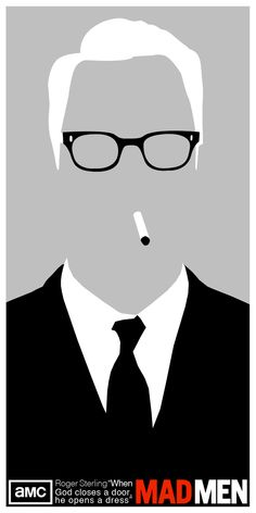 Roger Sterling Mad Men by TrevorDeal.deviantart.com on @deviantART