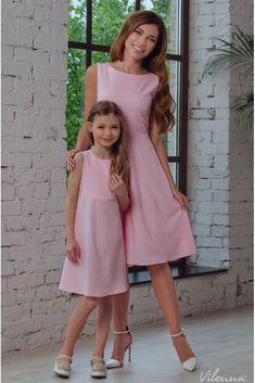 Сукня для дівчинки з потаємною блискавкою та оригінальними зав'язками на спині • колір: рожевий • інтернет магазин • vilenna.ua #Lookmarinero