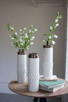 ceramic copper top vase