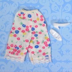 Vintage Francie Barbie 1252 First Things First Flower Petti Pants + Cutout Heels #Mattel #ClothingShoes