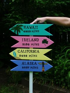 PERSONALIZED DIRECTIONAL SIGNS  Hand Painted by TheRightJack, $128.00
