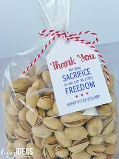 Free Printable Veteran's Day Thank You Gift Tags. Let A Veteran know they are appreciated and not forgotten.