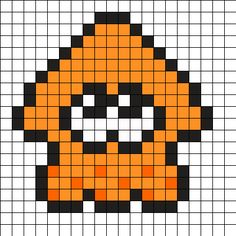 Splatoon Squid Perler Bead Pattern
