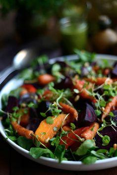Sweet potato, carrot, and watercress Winter Salad