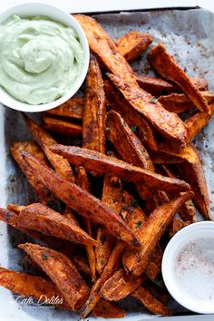 Crispy Sweet Potato Wedges with Garlic Avocado Aioli #Paleofy | Cafedelites.com