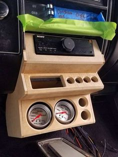 Custom Car Interior, Truck Interior, Custom Trucks, Custom Cars, Vw Caddy Mk1, Golf Mk1, Custom Center Console, Custom Dashboard, Mustang Interior