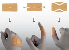 I'm glad someone actually figured out how to put a band-aid on the thumb better. Haha.