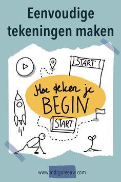 Inspiratie voor eenvoudige symbolen om het woord Begin te tekenen. Zeven ideeen voor een simpele tekening voor het woord begin. Banners, Om, Banner, Posters, Bunting
