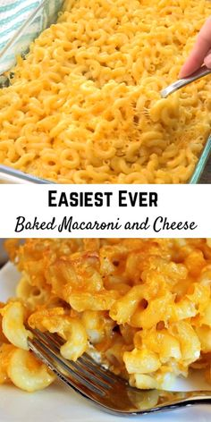 Easiest Ever Baked Macaroni and Cheese – this is a go-to side dish recipe of many of my readers and it will become the same for your family! dinner videos Easiest Ever Baked Macaroni and Cheese Best Macaroni And Cheese, Easy Mac And Cheese, Macaroni Cheese Recipes, Mac And Cheese Homemade, Macaroni And Cheese Casserole, Mac And Cheese Recipe For A Crowd, Baked Mac And Cheese Recipe Soul Food, Simple Macaroni And Cheese Recipe, Sweets