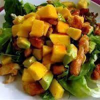 Ensalada de Pollo con Mango y Aguacate Más