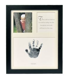 The Grandparent Gift Co. Baby Keepsakes Little Hands Handprint Frame, Black $19.99
