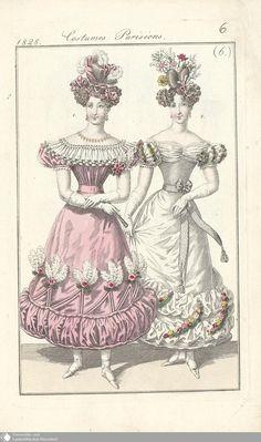 13 - (6.) Costumes Parisiens. - Petit courrier des dames - Seite - Digitale Sammlungen - Digitale Sammlungen