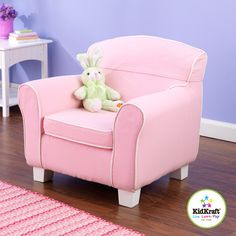 Kidkraft Laguna Toddler Chair with Pink Piping & Slip Cover