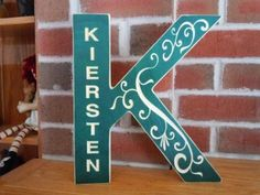 carved first family name wooden diy initial K sign - wall crafts, home decoration - LoveItSoMuch.com